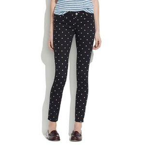 Madewell polka dot skinny jeans 30